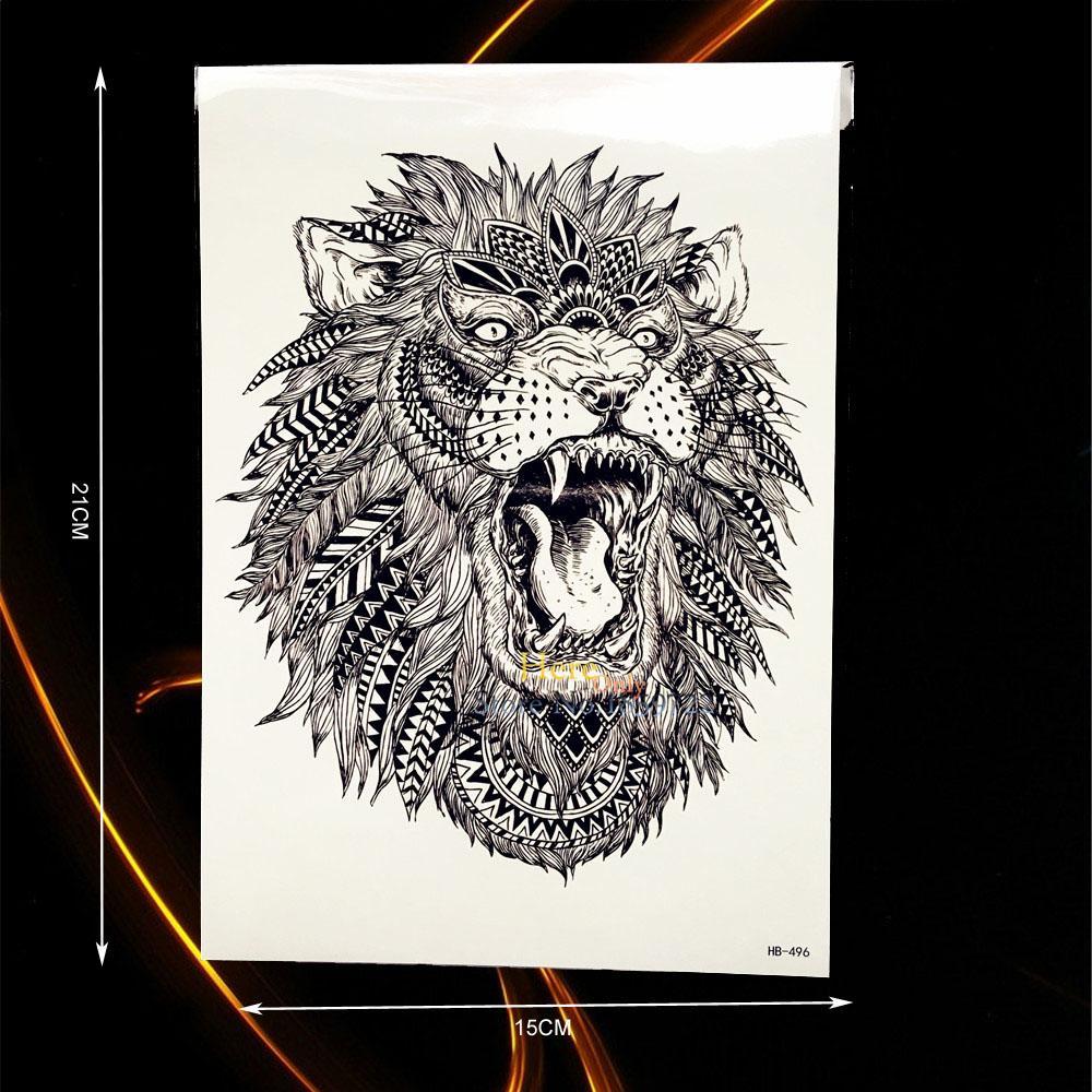 Acheter Grand Animal Bras De Tatouage Indien Roi Tete De Lion