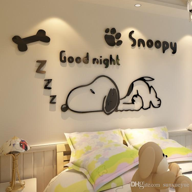 Snoopy Acrylic 3d Crystal Stereoscopic Wall With Cartoon Dog ...
