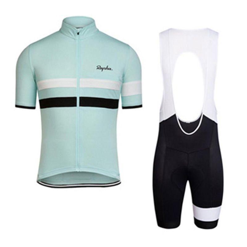 2017 Rapha neue Sommer Mountainbike Kurzarm-Radtrikot Kit atmungsaktiv schnell trocknend Männer und Frauen Reithemden Latz / Shorts Set K2502