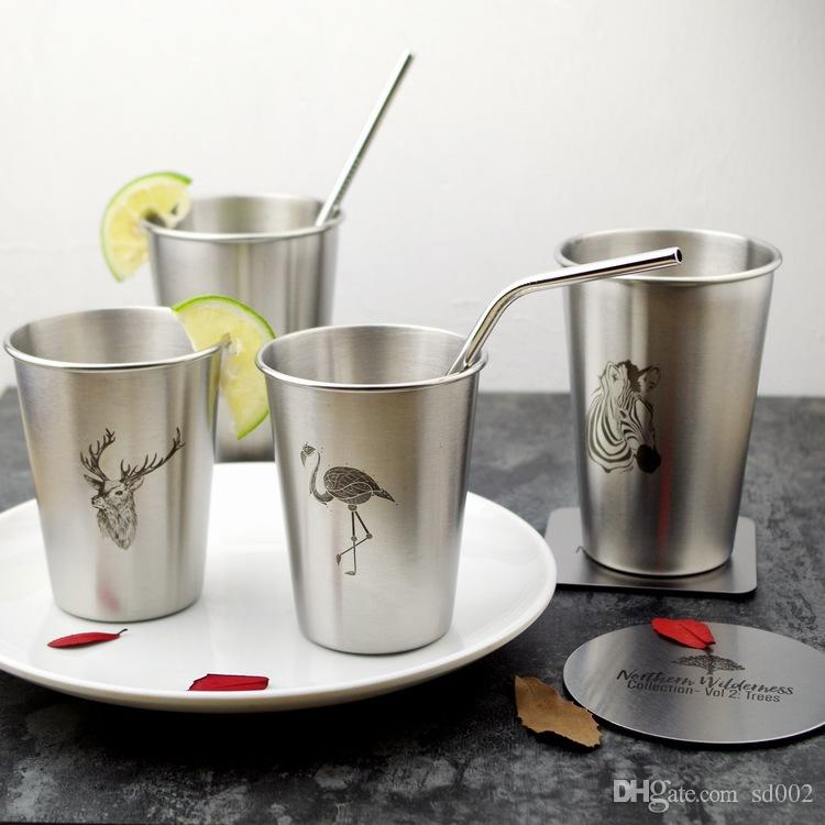 Stainless Steel Cups Nordic Style Coffee Cup Gift Creative Flamingo Mug Resistance To Fall 8 5zx2 C R