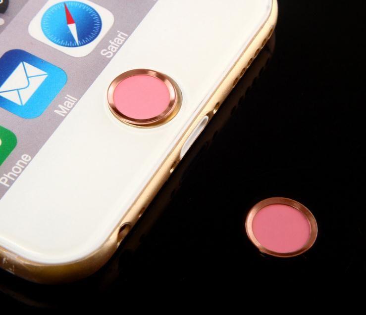 Yeni Gül Altın Alüminyum Metal Halka Dokunmatik KIMLIK Ana Anahtar Düğmesi Sticker için iPhone 7/6 S / 6, 7/6 S / 6 Artı Parmak Izi Tanıma Fonksiyonu ile