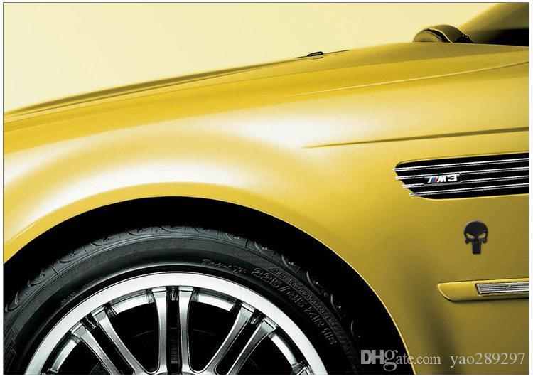 فاسق الجمجمة 3D سيارة الجانبين الجبهة الخلفية زينة معدنية شارة شعار لUnivesal السيارات الفضة الشحن الحرة