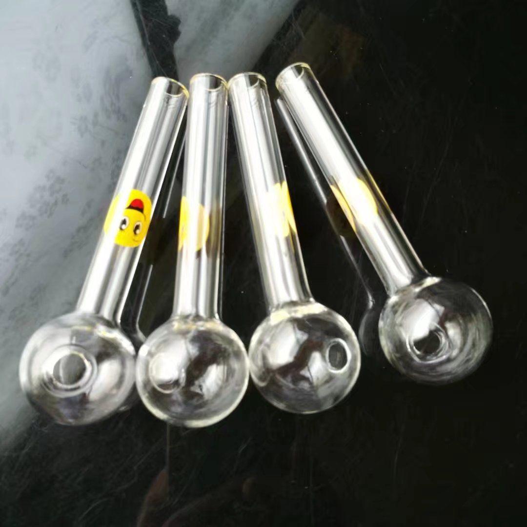 Yağ cam bongs kuleleri için Şeffaf Sarı Cam Tabanca Aksesuarları, Su boruları cam bonglar iki işlevi hooakahs