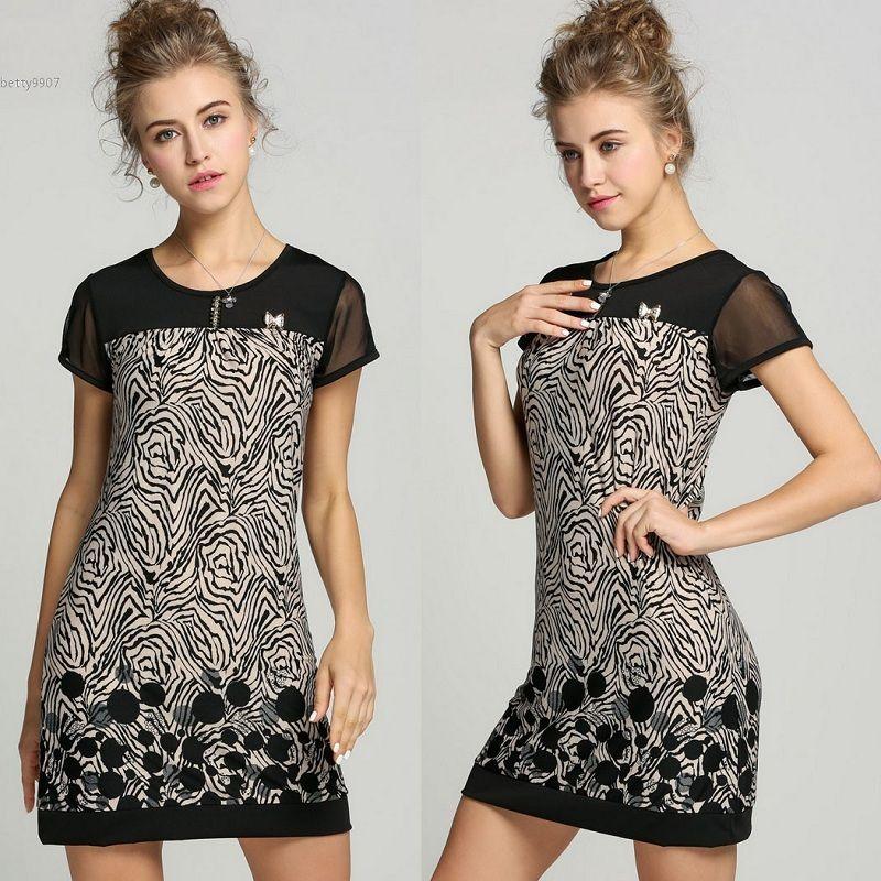 11169ddaaa895 2018 Designer Woman Dresses Clothing Splice Suit Pattern Short ...
