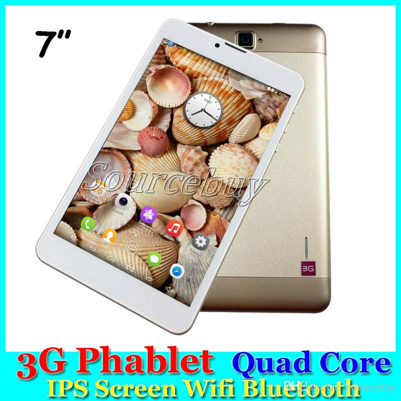 "Quad Core 1.5Ghz Phablet SC7730 3G Phone Call tablet pc android 5.1 bluetooth Wifi Dual Camera sim 7"" 1280*800 IPS Screen"
