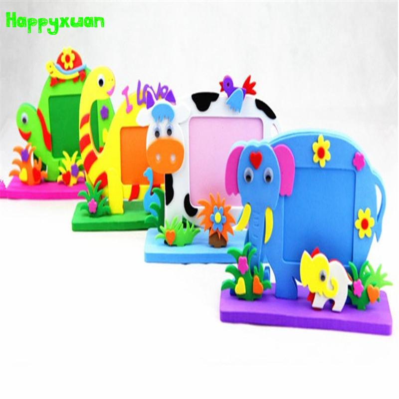 Happyxuan Cartoon Animal Photo Frames Handmade Diy Cute Eva Foam ...