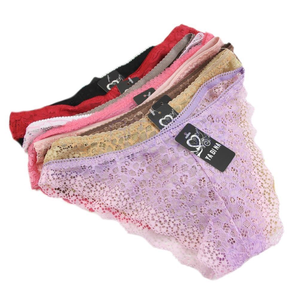 Women Underwear Panties Briefs Bikini Knickers Lingerie Thongs G-string V-string