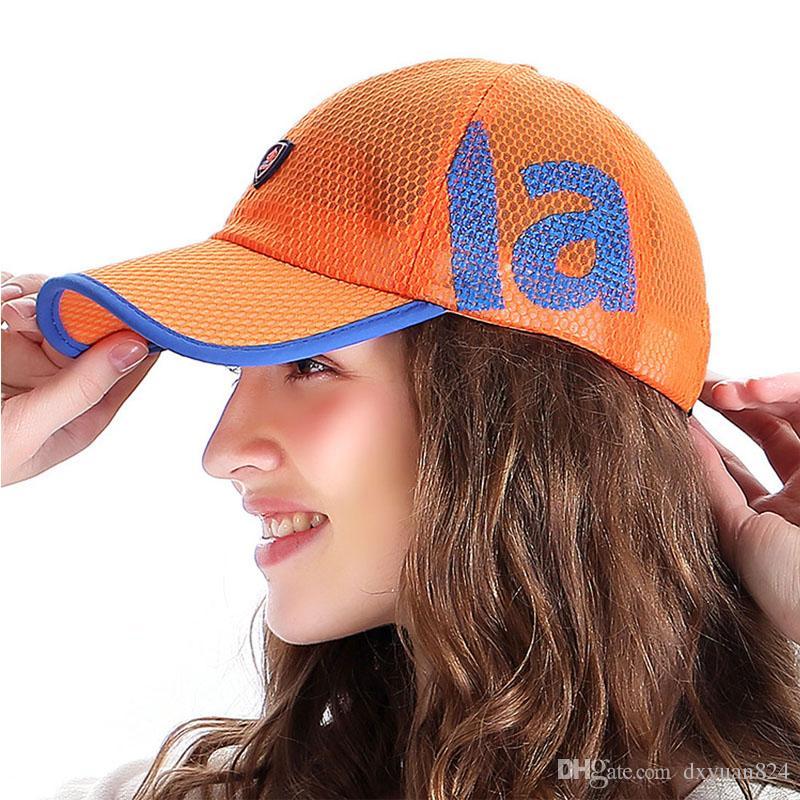 73022ed028d Men Women Unisex Sport Baseball Mesh Sun Breathable Lightweight Hats  Running Visor Quick Drying Cap Summer Outdoor Golf Cycling Fishing Baby Caps  47 Brand ...
