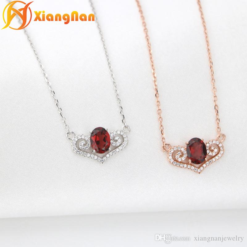 S925 sterling silver garnet pendants necklaces gemstone necklace red s925 sterling silver garnet pendants necklaces gemstone necklace red stone heart0 pendant natural red gemstone necklaces fn012 garnet necklaces gemstone aloadofball Images