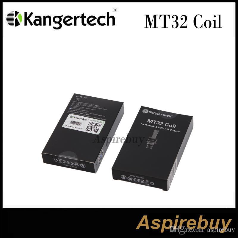 Kanger MT32 Coil Unité de bobine pour Evod / Protank 2 / Mini Protank 2 / UNITANK Chauffage Bobines pour tous Simple Bobines Clearomizers 100% authentique