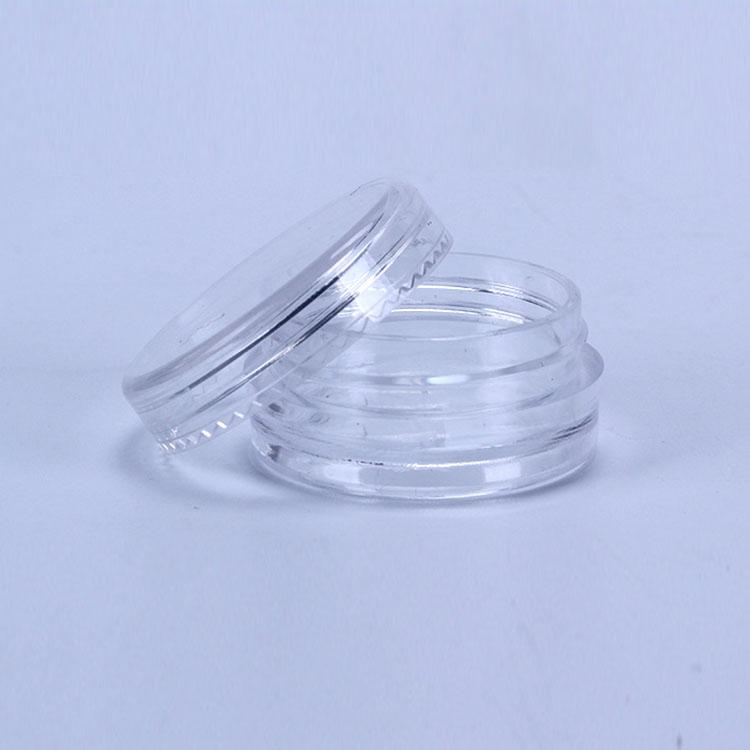 2ML de plástico transparente vacío tarros Pot tapa transparente Tamaño 2GRAM Para Sombra de ojos cosmética Crema Uñas Polvo joyería E-líquido