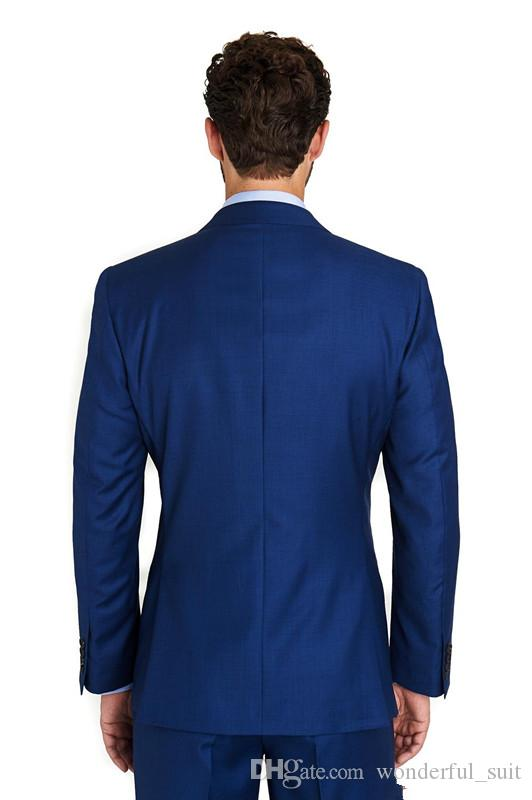 2017 Custom made man`s wedding suits three pieces tux Notch Lapel Groom Tuxedos evening Wedding best man Suits for weddingcoat+pants+vest