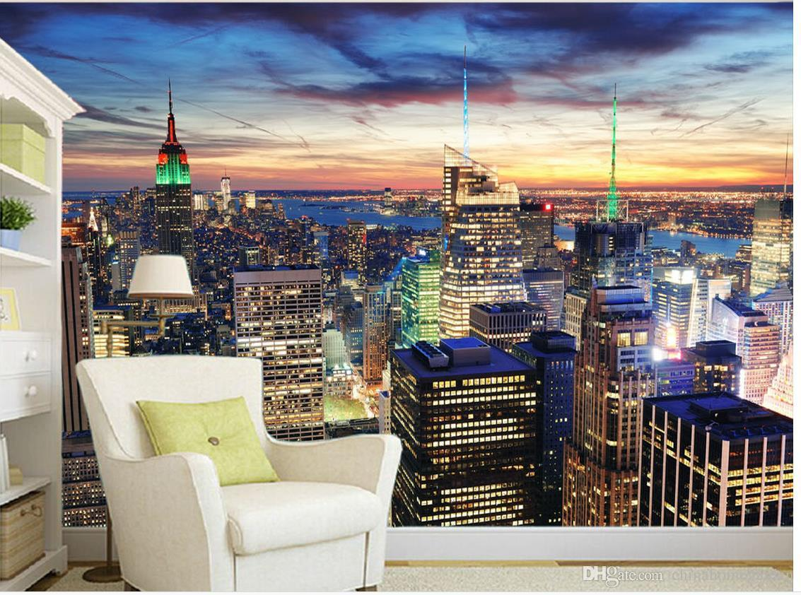 Beautiful Cityscape New York Night View Tv Wall Murals Mural 3d Wallpaper  3d Wall Papers For Tv Backdrop Wallpaper Borders Wallpaper C From  Chinahomegarden, ... Part 66