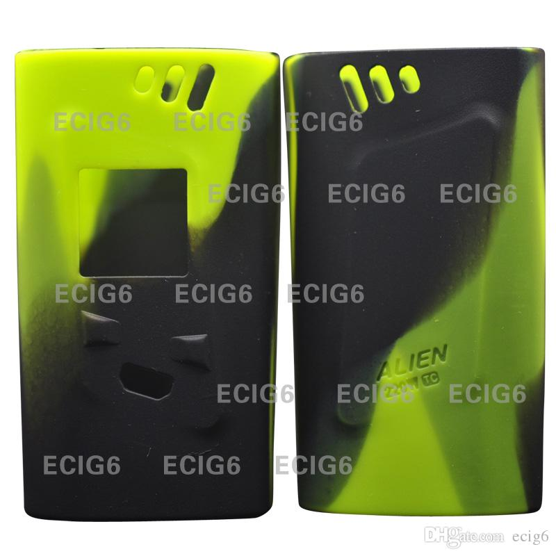 For smok alien 220w TC E cig Electronic cigarette Silicone Case Skin Cover Bag Pocket Pouch Accessories Box