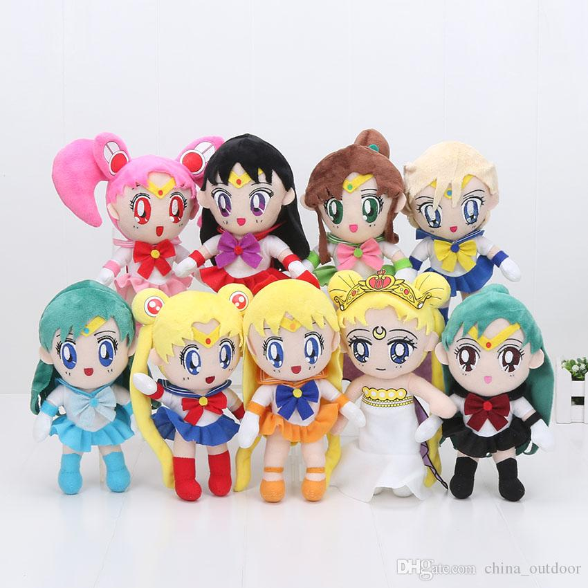 Japanese Anime Sailor Moon Plush Toy Tsukino Usagi Soft Stuffed Doll Collection Gifts For Kids