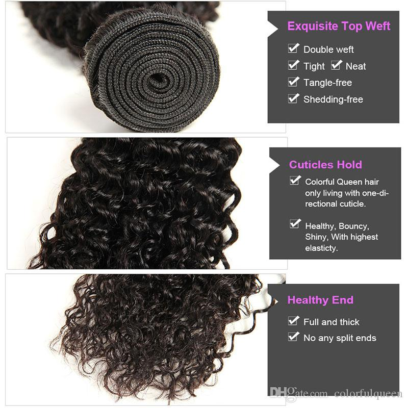 Colorful Queen Peruvian Virgin Afro Kinky Curly Hair Bundles Unprocessed Human Hair Weave Weft Street Hair Extensions For Black Women