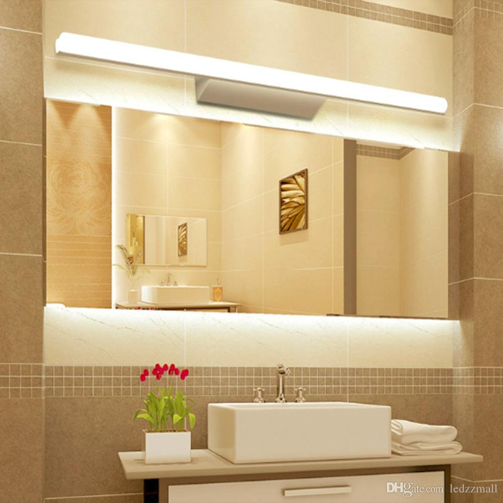 2017 Modern Style Wall Mounted Ip65 Waterproof Mirror Wall Light 40cm 54cm  80cm 1m Acrylic Led Bathroom Mirror Wall Light Lamp From Ledzzmall, ...