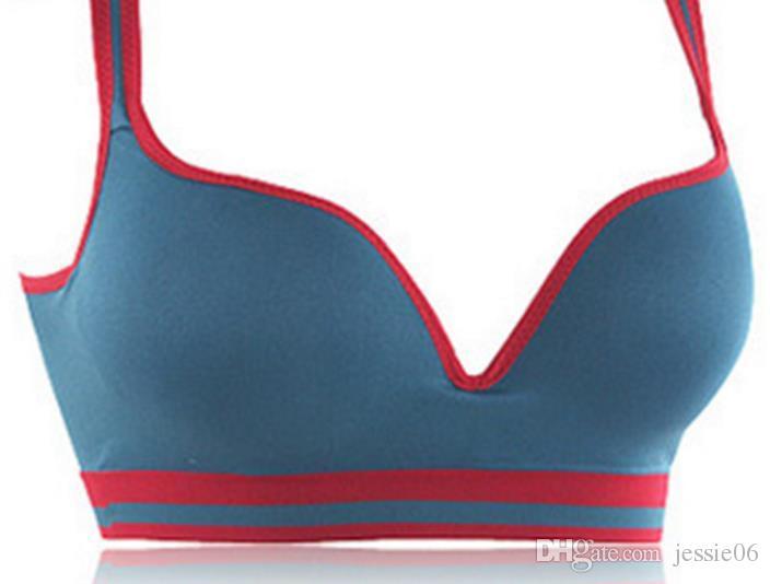 Sexy Frauen Nahtlose Bh Sport Yoga Casual Unterwäsche Push Up Bhs Tank Active Racerback Crop Top Gepolsterte Ärmellose Baumwolle Sport-Bh geschenk