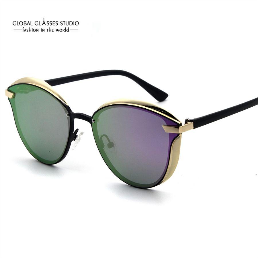 460608acbf Fashion Designer Cat Eye Shape Gold Sliver Matel Frame Colorful Polaroid  UV400 For Lady And Woman RST016 Serengeti Sunglasses Sun Glasses From  Lixinglass