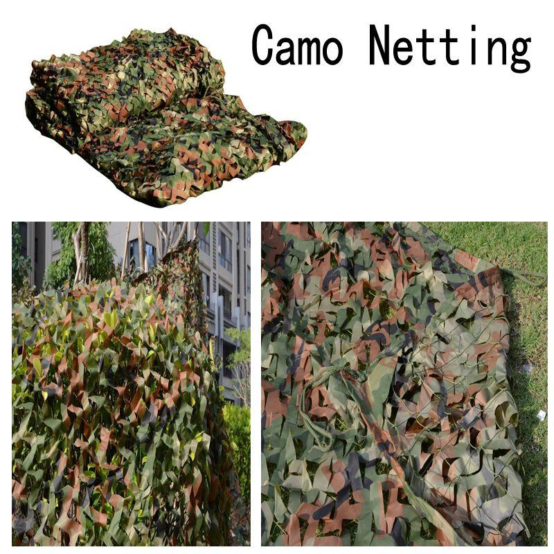 Avcılık Kamp Camo Net Woodland Kamuflaj Net Bırakır Orman Orman Askeri Araba Gölge Bezler Için Kapak B112L Camo Net Bırakır