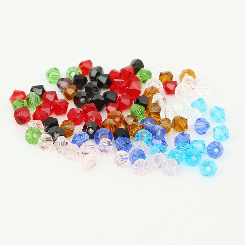 4mm Bicone Austria Crystal Beads Glass Beads Loose Spacer Bead for ... 350a14768913