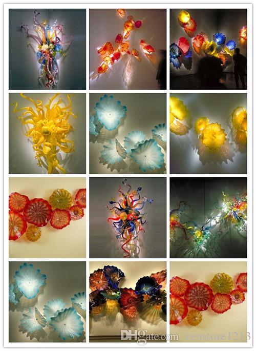 Роскошные большие люстры из муранского стекла Цветы Цвет Китай Завод турецкий стиль Цветные муранского стекла Светодиодное освещение Отель украшения