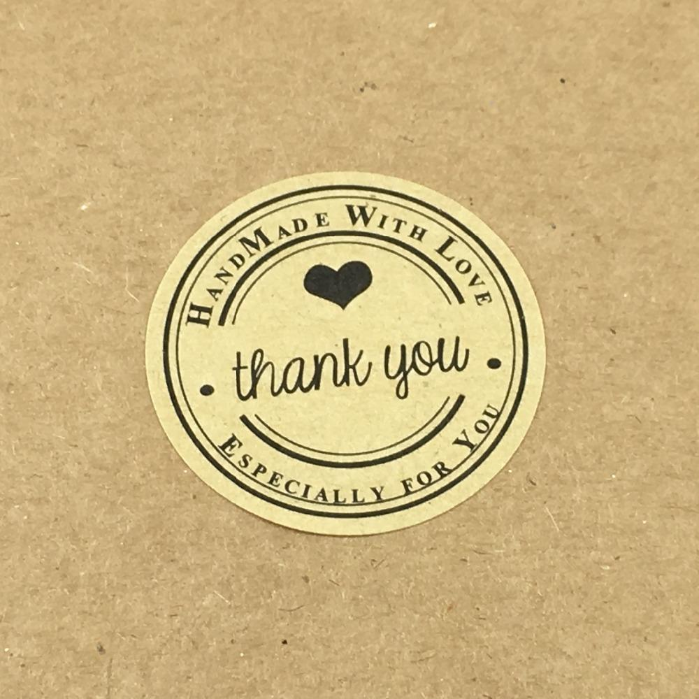 Wholesale 100pcs 3 5cm thank you gift sticker labels for personalized wedding chalkboard diy gift tags labels self adhesive stickers