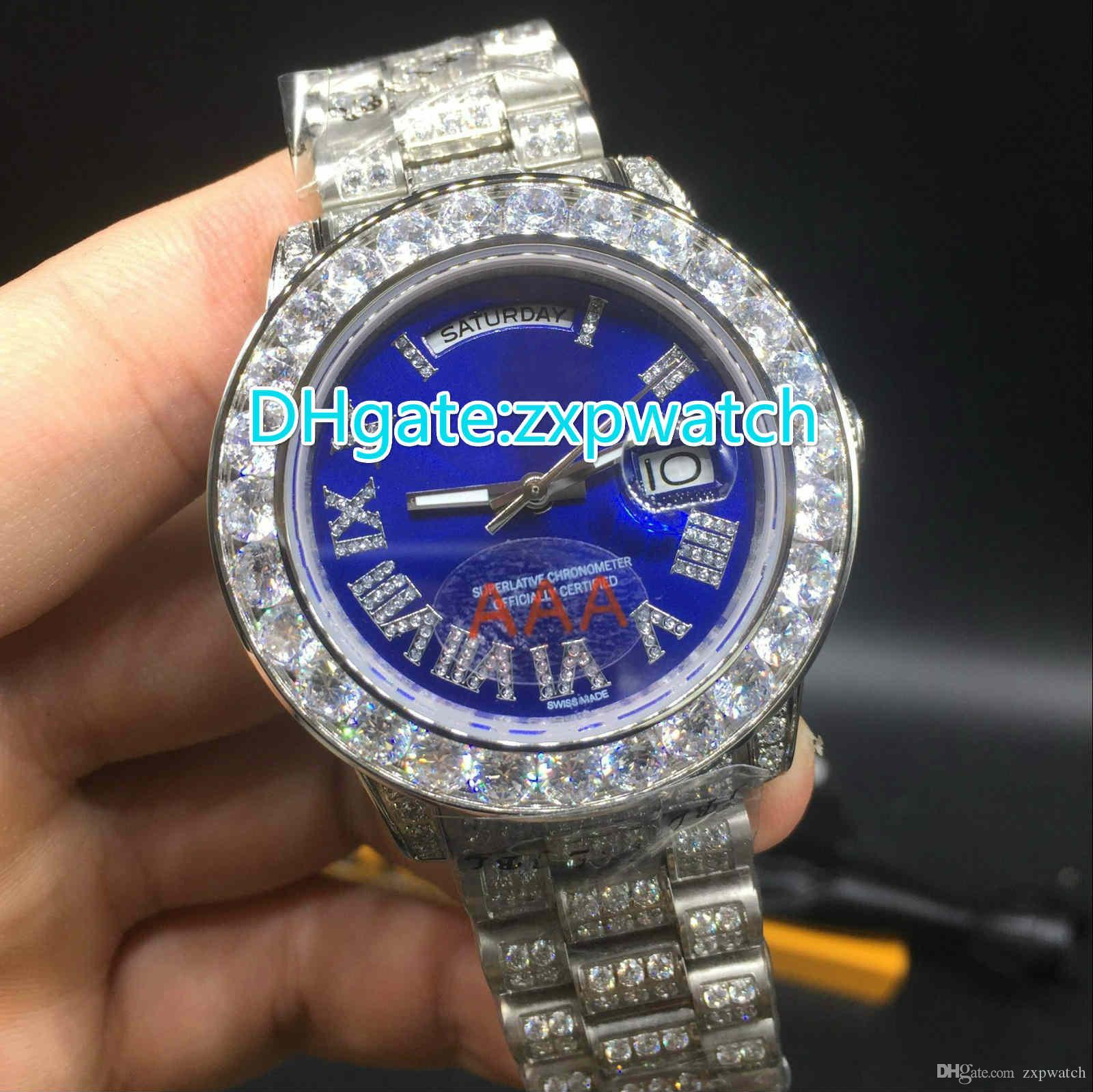 rolex diamond for out watch men iced main with bezel face datejust
