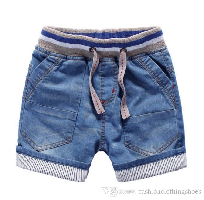 europestyle high quality childrens wear boy children soft denim shorts 2017 summer baby kids elastic waist small car jeans shorts boys shorts size 10 girls