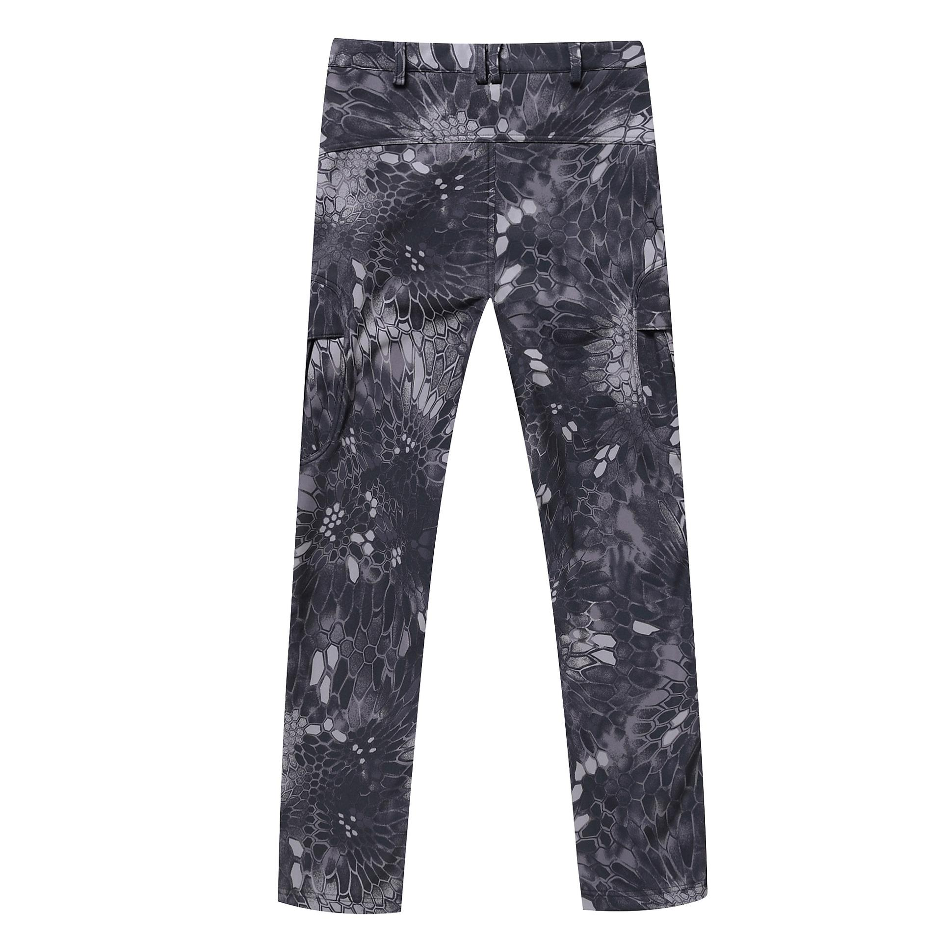 Upgrade to TAD model of shark skin soft shell charge fleece pants man climbing trousers Unisex Tactical camouflage pants python lines