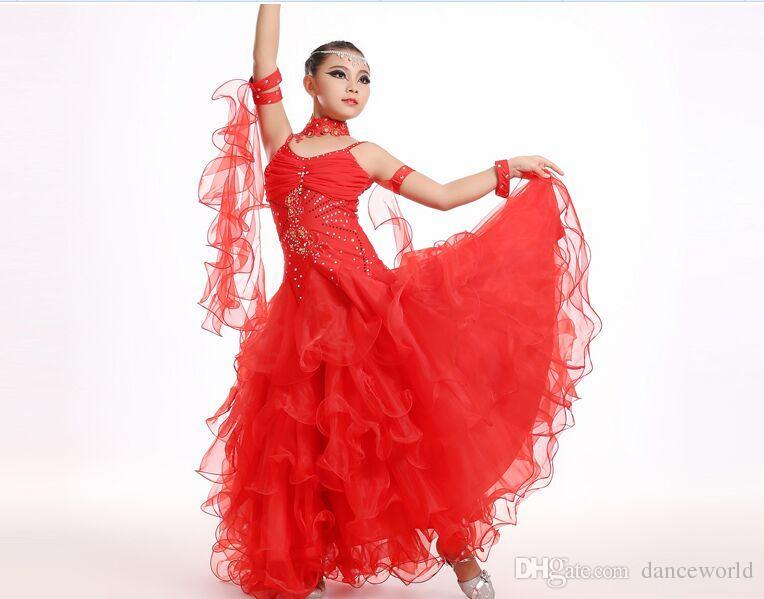 165f91005cb3 2019 Modern Dance Costumes For Kids Ballroom Dancing Girls Ballroom  Standard Dance Dress For Girls Ballroom Dance Competition Dress From  Danceworld, ...