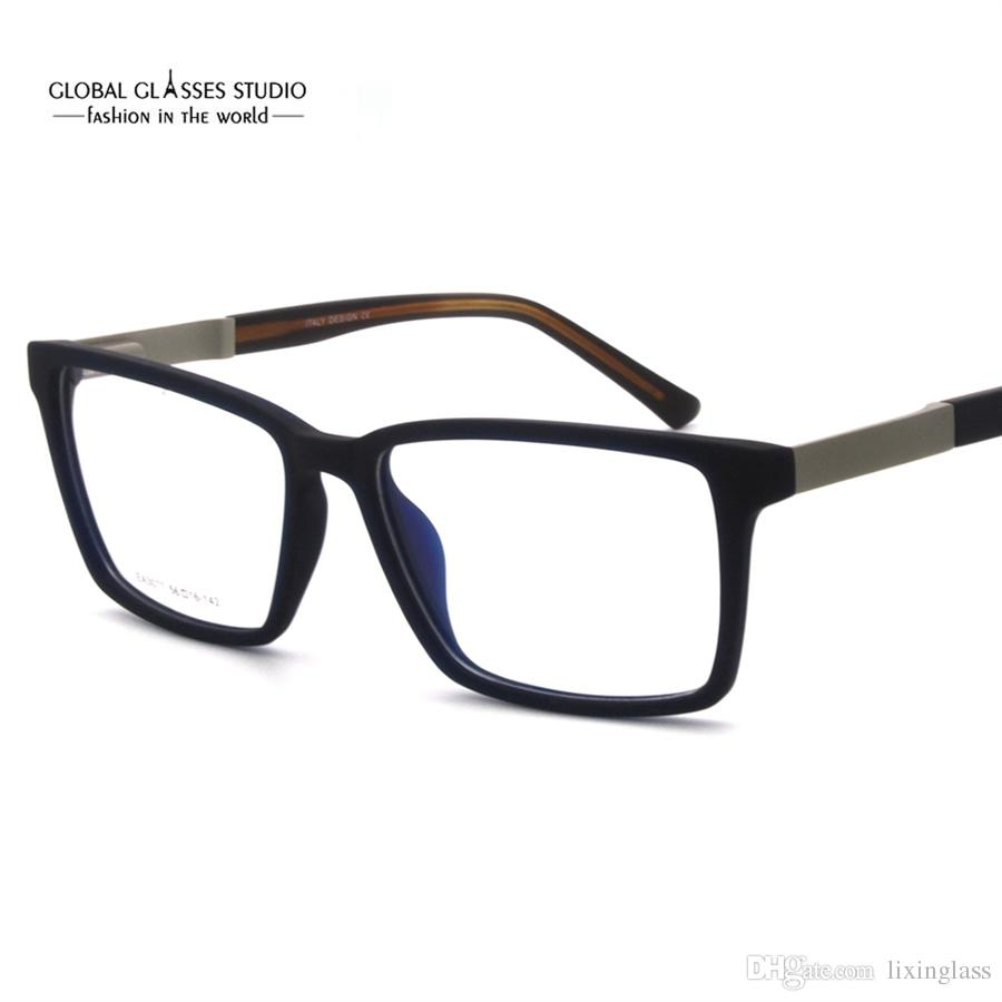 Großhandel Big Size Rectangle Objektiv Männer Brillen Italien Design ...