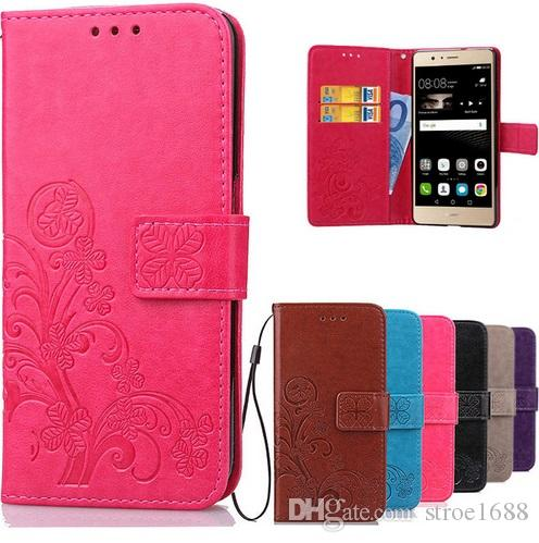 huge selection of 869aa 01ede Cover Huawei P9 Lite Flip Case Luxury Retro PU Leather & Soft Silicone  Wallet Flip Cover Case For Huawei P9 Lite / P9 Plus