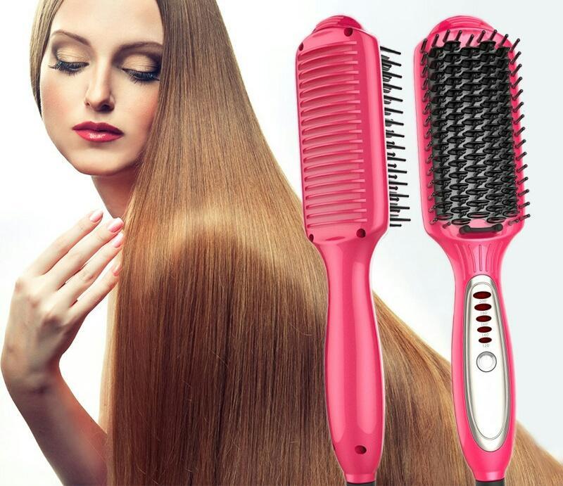 Do not burn flashlight straight hair comb LED temperature control negative ion hair straightener