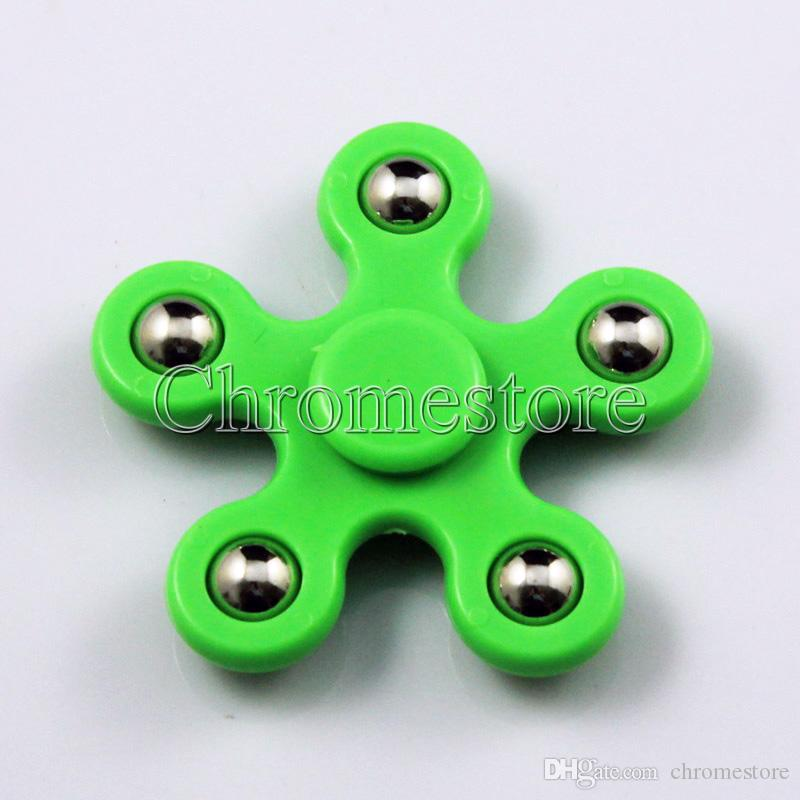 5 sided pentagon hand spinner fidget toy time killer for relieve
