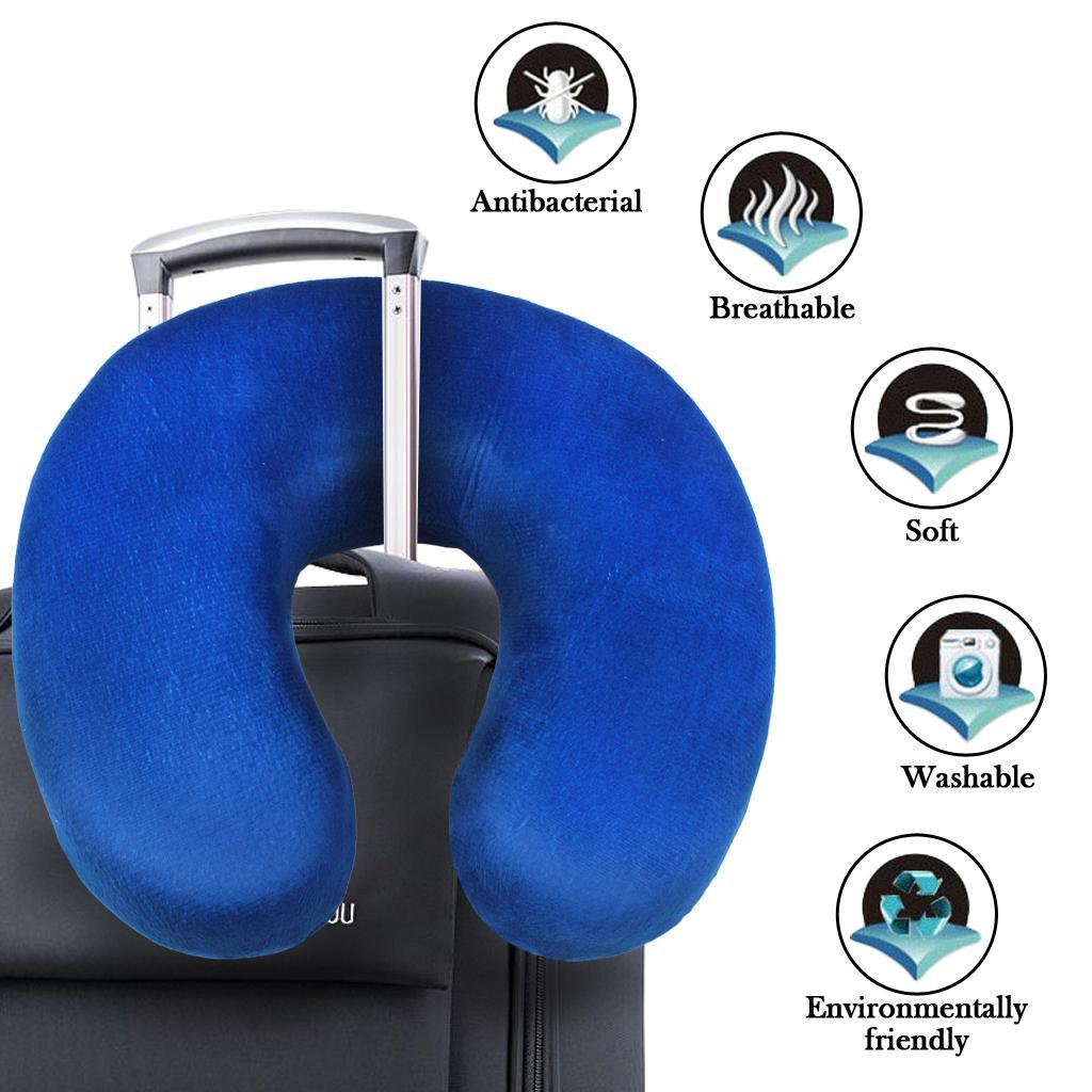 Therapeutisches Gedächtnis-Schaum-Kissen-Mikrofaser-Kissen am besten für Ihren Hals und Kopf U-förmiges Auto Home Office Outdoor-Reisen Wandern Piilow