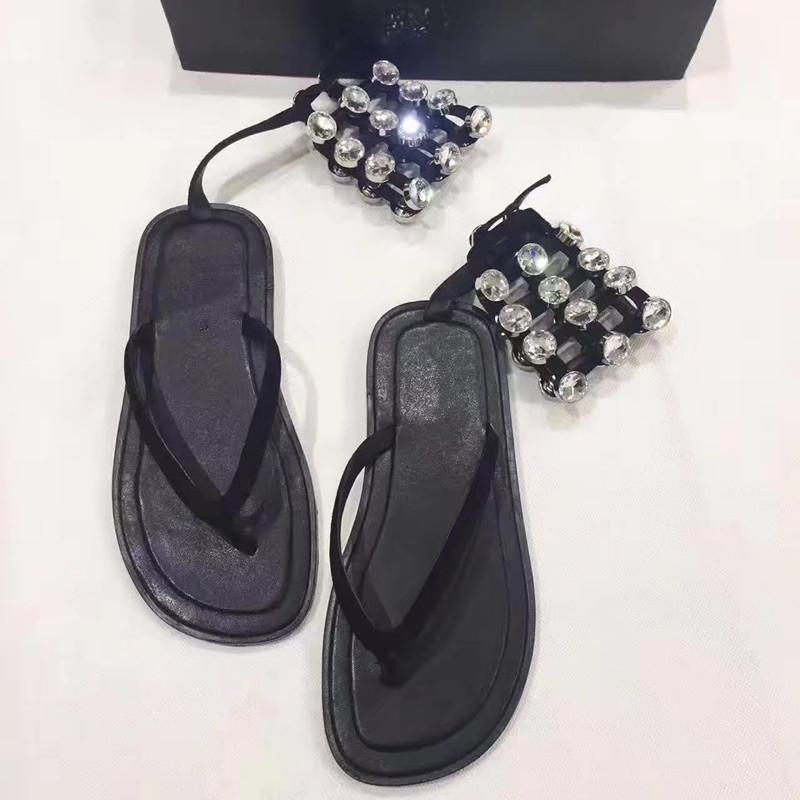 5be6b812dcfb71 Individual Catwalk Flip Flops Ankle Buckled With Rhinestone Hollow Out Flat  Sandals Women Twowear Beach Shoes Woman Platform Sandals Wedges Shoes From  ...