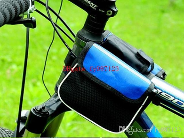 Sıcak satış Su Geçirmez 3 Renkler Çift Taraflı Eyer Bisiklet MTB Bisiklet Çanta Spor Çerçeve Ön Tüp Bisiklet Çanta Ourdoor Bisiklet Için