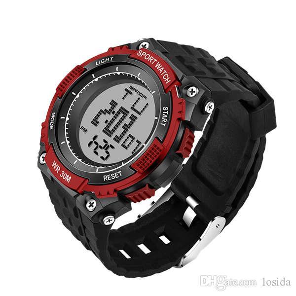 6af1db9bb81 Melhor Venda Nova Marca Sanda Relógio Dos Homens Relógios Desportivos  Militares Moda Silicone À Prova D  Água Led Digital Relógio De Pulso Para O  Relógio De ...