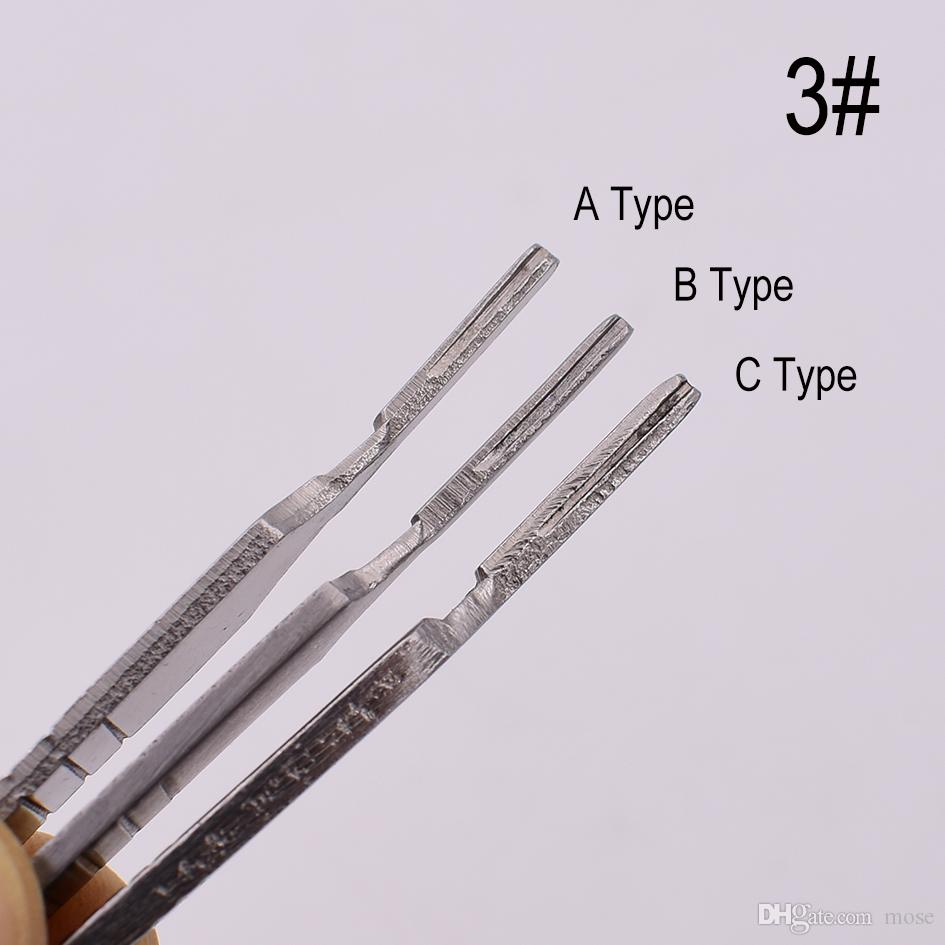 3 # Metal Kolu Neşter, Bıçak Bıçak Ahşap Kağıt Kesici Craft Kalem Bıçaklar, Gravür DIY El Aletleri 100 adet / grup