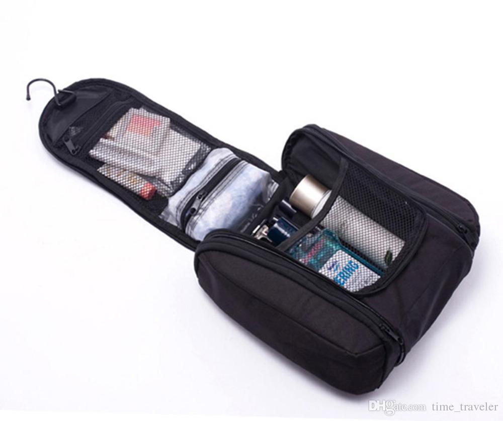 2015 Black New Orgarnizer Shaving men's travel bags Deluxe Large Hanging Hook Travel Toiletry Kit bag