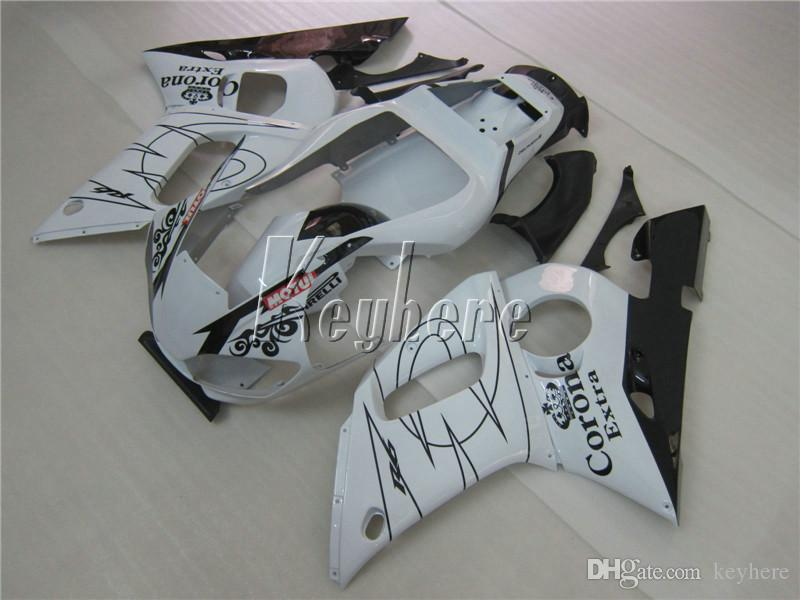 Aftermarket body parts fairing kit for Yamaha YZR R6 98 99 00 01 02 classical white black fairings set YZFR6 1998-2002 HT12