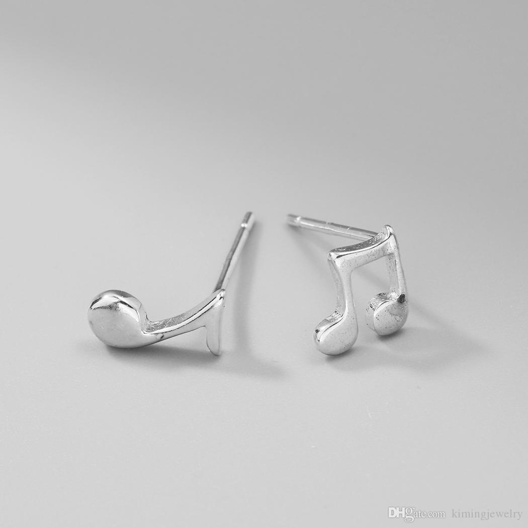 es / Charme 925 Sterling Silver Petite Note De Musique Signe Boucles D'oreilles pour les Femmes Vente Chaude Déclaration Bijoux Filles Cadeau