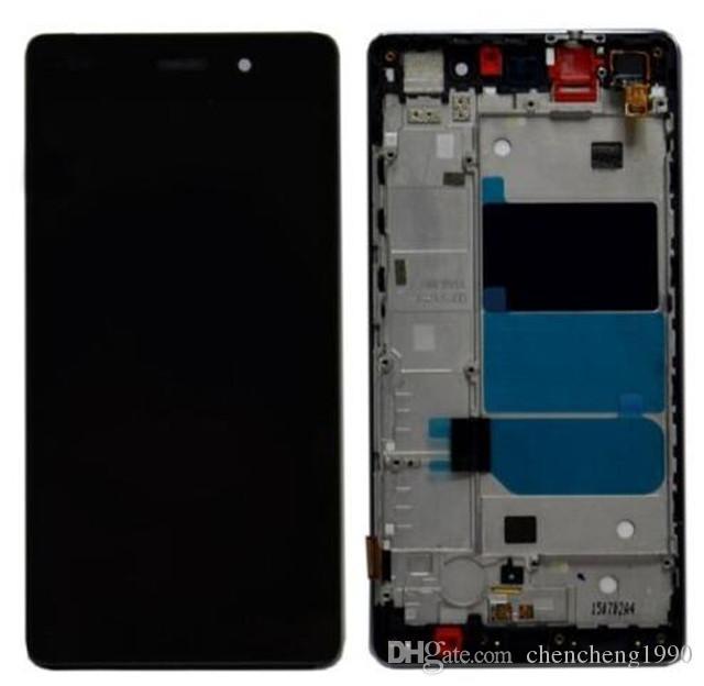 Huawei Ascend P8 Lite için Tam Çerçeve Ile Yeni LCD Dokunmatik Ekran Digitizer Ücretsiz Kargo Şimdi