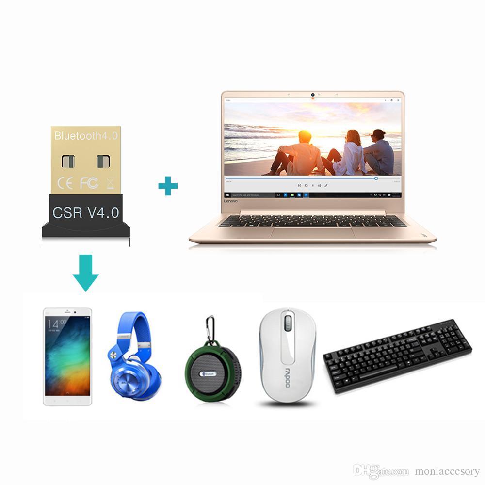 Laptop Adapters USB Bluetooth 4.0 Adapter CSR V4.0 Mini USB Bluetooth Dongle 4.0 Transmitter for Windows 10 8 XP Win 7 Vista
