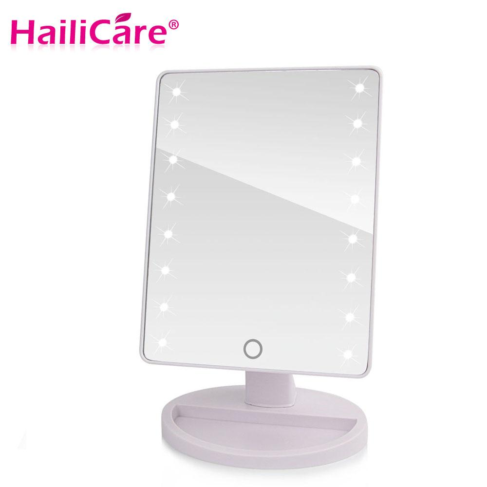 Led Touch Screen Makeup Mirror Professional Vanity Mirror With 16 ...
