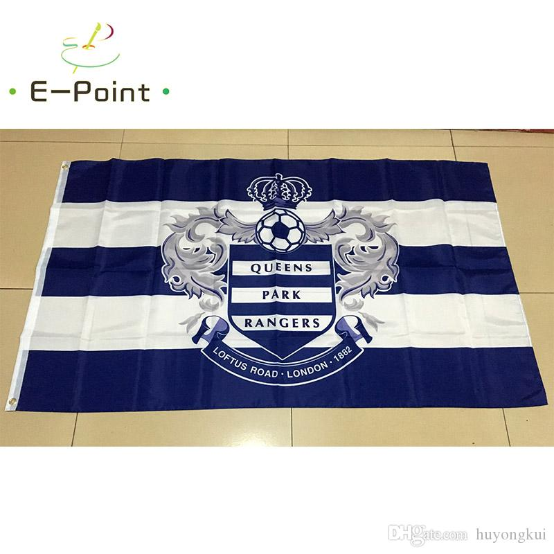 2017 England Queens Park Rangers Fc 35ft 90cm150cm Polyester Epl Flag Banner Decoration Flying Home Garden Festive Gifts From Huyongkui