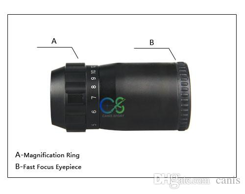 Canis Latrans Tactical Scope 2.5-10X26 Scope With Red/Green Illuminated For Outdoor Use Black Color CL1-0253