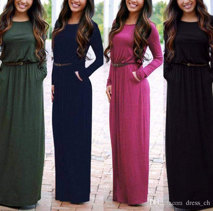 Long sleeve maxi dress pics