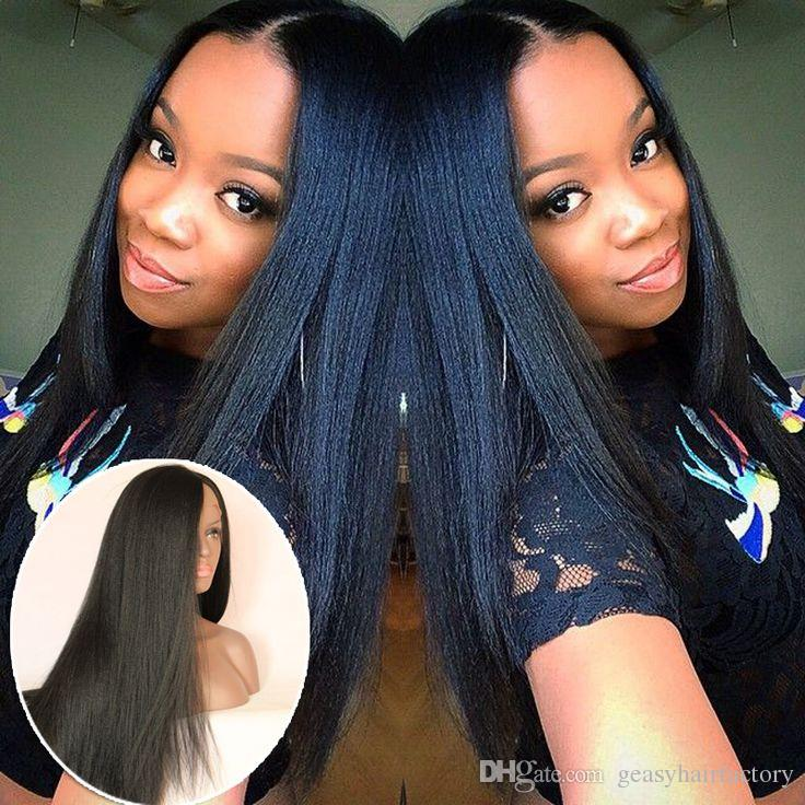 u part wigs with baby hair virgin peruvian human hair lace front wigs natural black full lace wigs for black women LaurieJ Hair